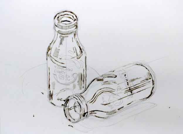 《牛奶樽》水彩速寫