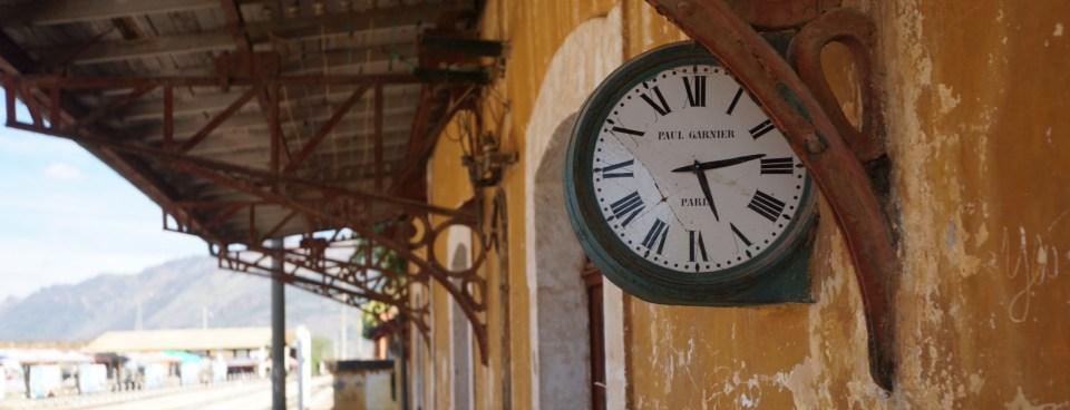 碧色寨站著名的「巴黎鐘」。