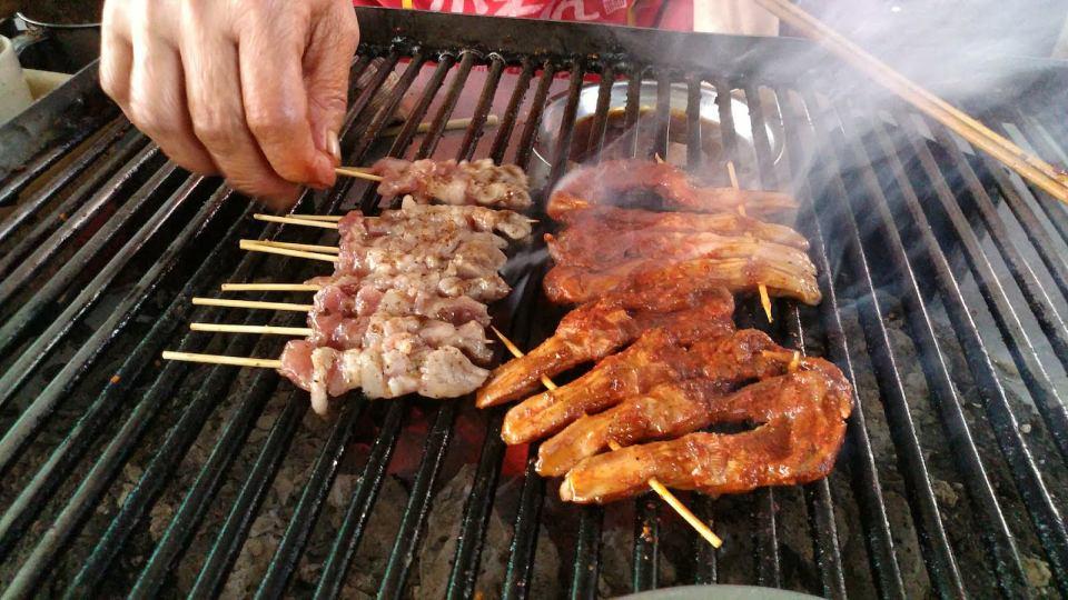 各種燒肉串。