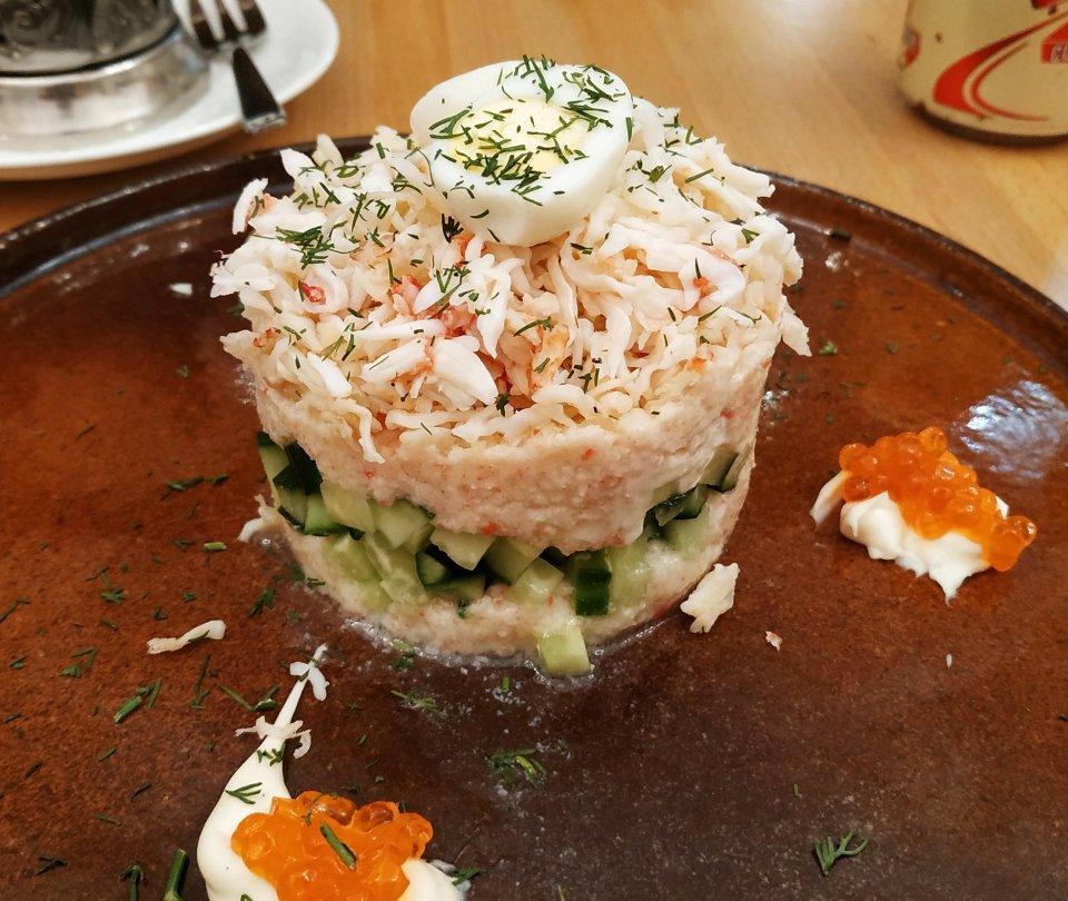 蟹肉沙律。