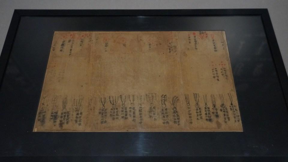 記錄星體及彗星的帛書《天文气象杂占》。。