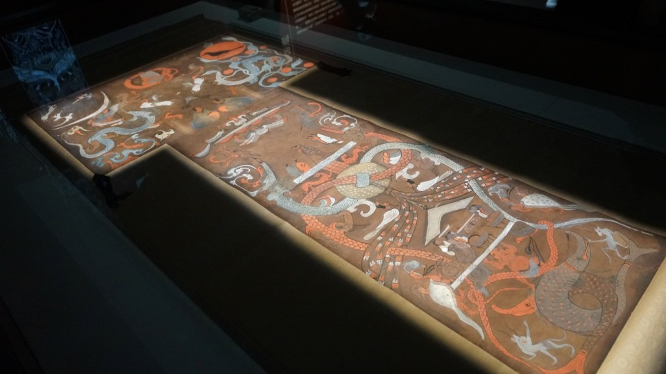 馬王堆一號漢墓「非衣」帛畫。
