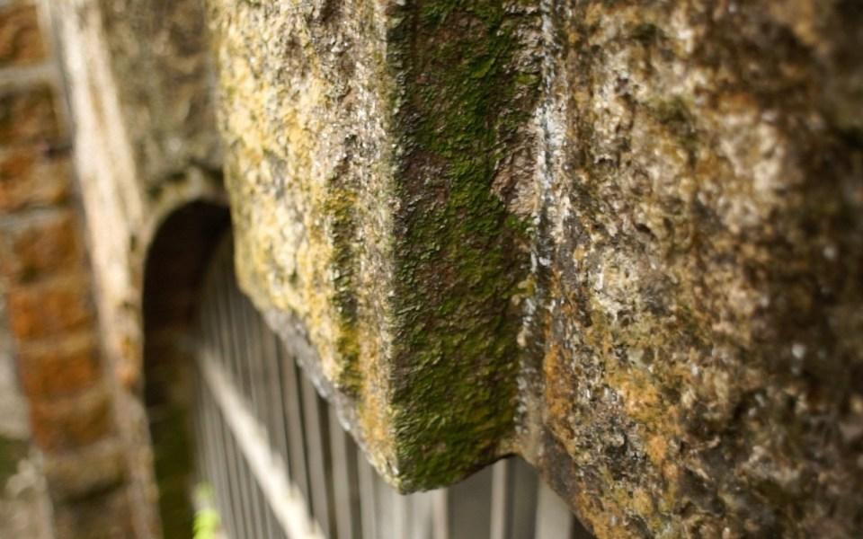 九龍入口「獨有」的石磚,上面有疑似雕刻。