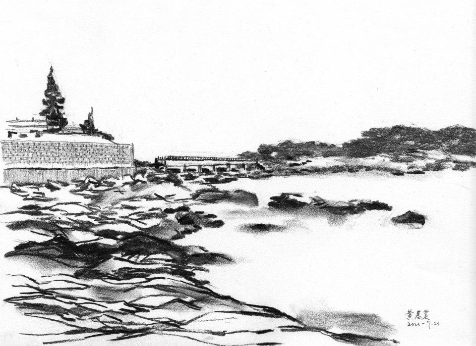 《石澳情人橋 2》碳支 37cm x 27cm 21-7-2021