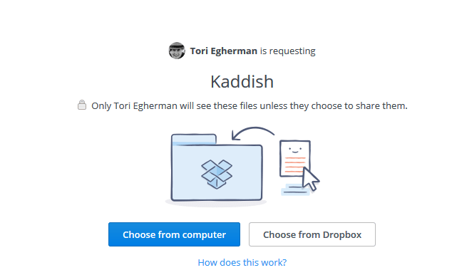 Use Dropbox to share your prayers