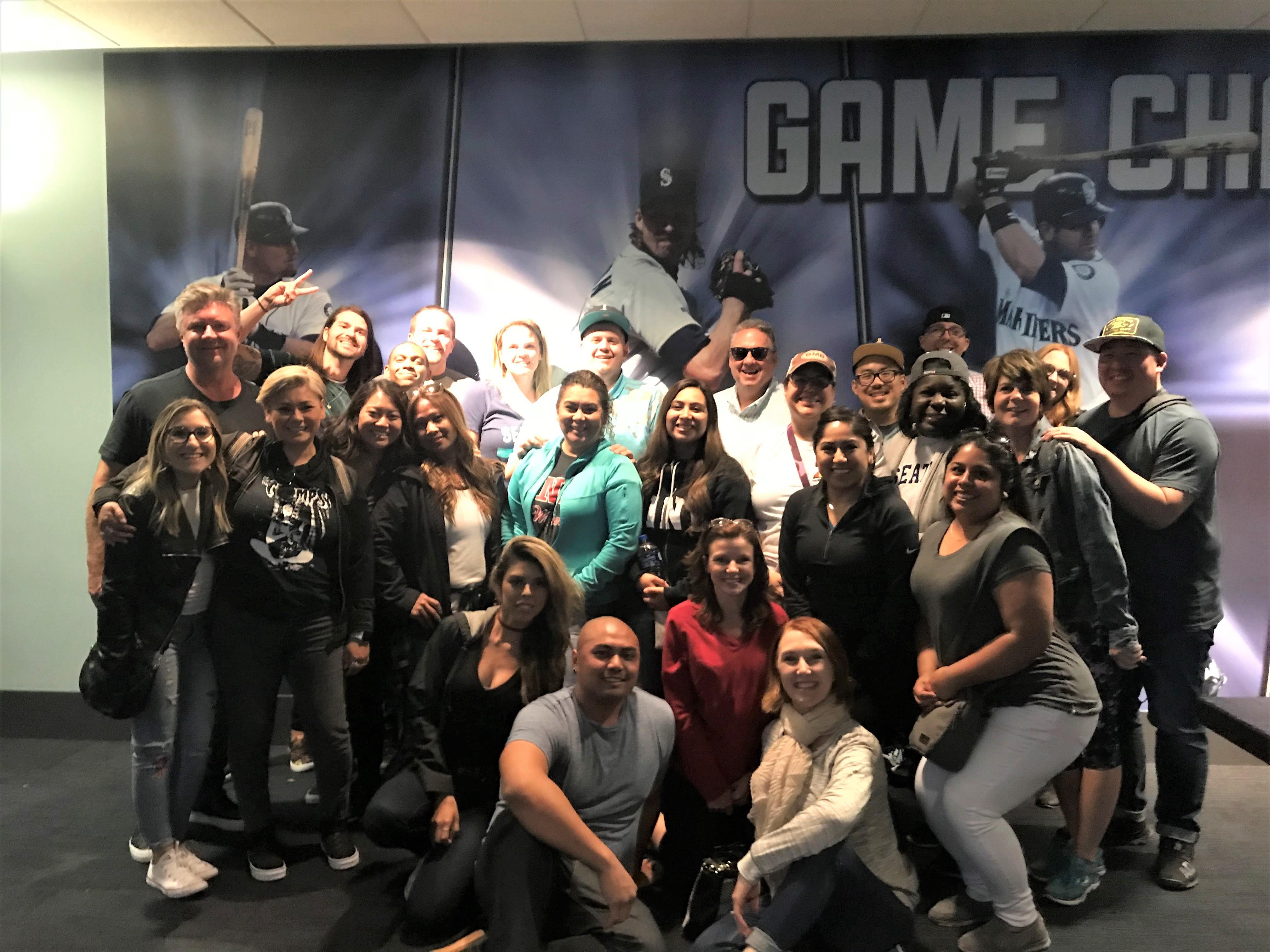 Mariners Game Group Photo