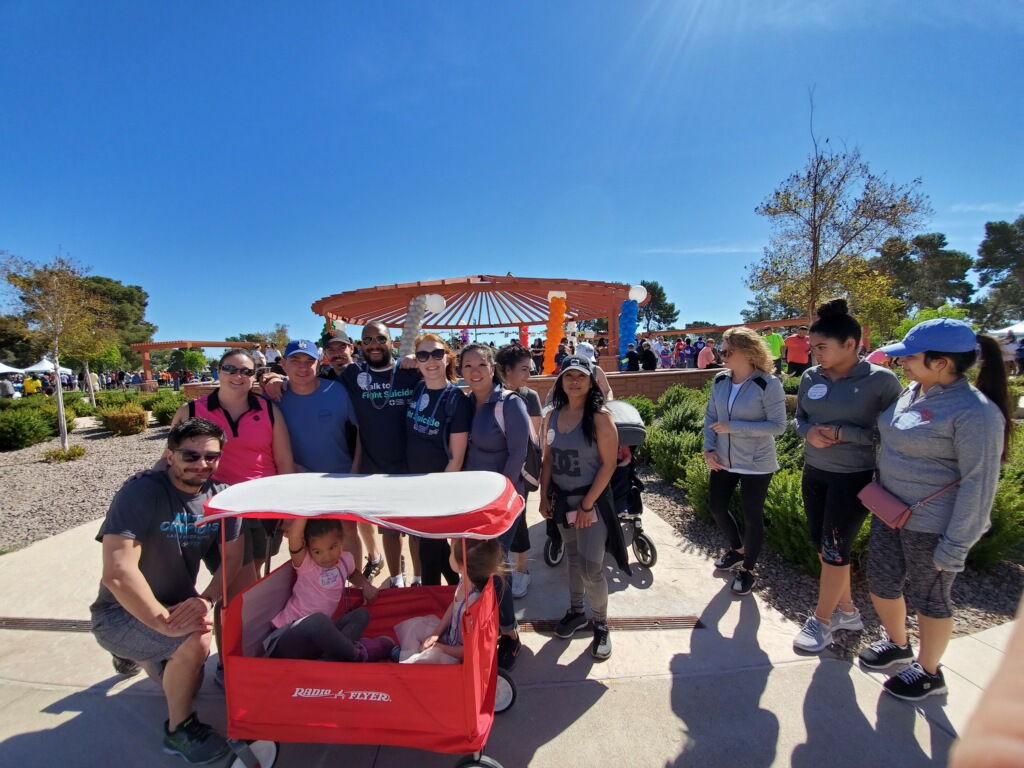 Eglet Prince team at the Out of Darkness Walk on April 6, 2019