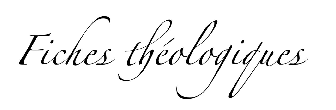 Les fiches théologiques préparées par notre Union d'Eglises, l'UNEPREF