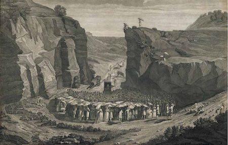 © Private collection, A secret assembly near Nîmes, engraving, Henriquez, 1785
