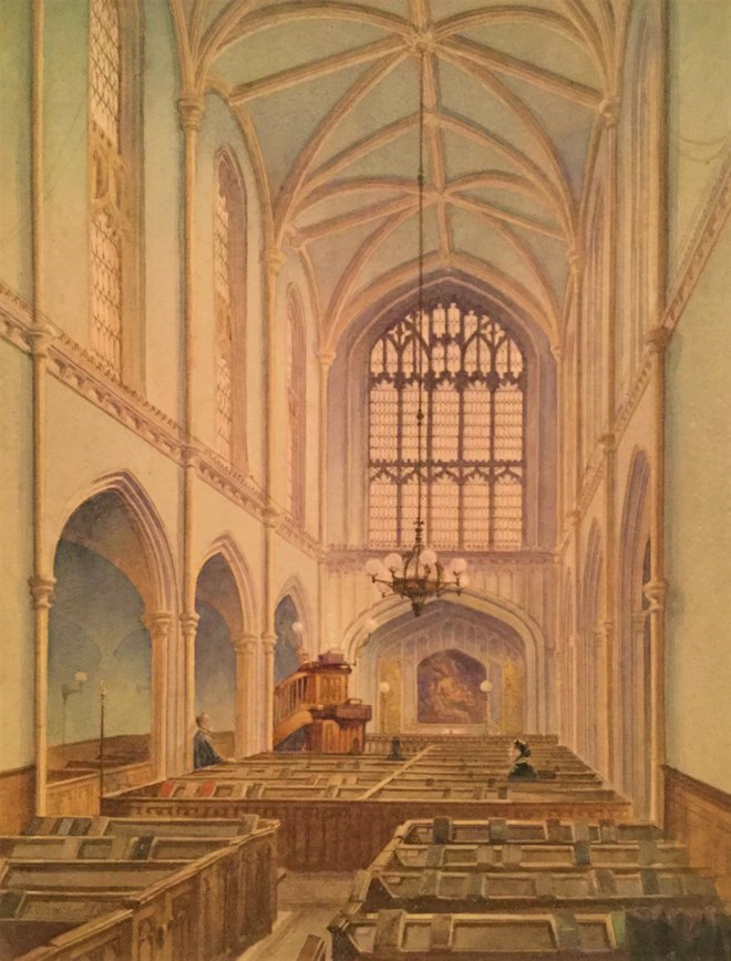 ©FCPL, Interior of St. Martin le Grand, John Crowther, 1886