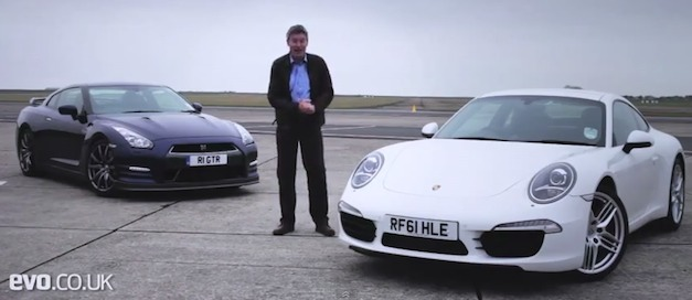 Video: Tiff Needell puts the 2013 Nissan GT-R up against the 2012 Porsche 911 Carrera S