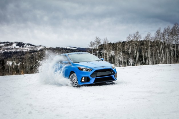 The Ford Focus RS's new winter tire package allows you to laugh in the face of Old Man Winter