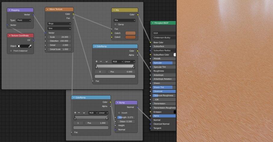 Planșeu 3D Material textură din lemn