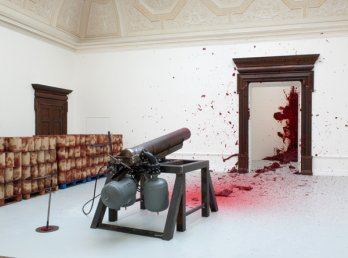 Anish Kapoor_Shooting into the Corner, 2008-09, installed at the Royal Academy of Arts, London, 2009_MAK, Vienna, Austrian Museum of Applied Arts-Contemporary Art_Dave Morgan