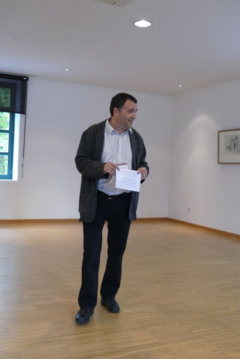 Javier Muguerza during the special session