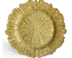 gold reef glass charger plate service plate