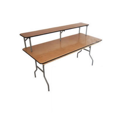 Wood dining table serving folding banquet table egpres - Folding dining table wood ...
