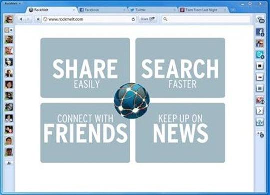 RockMelt Social Networking Features