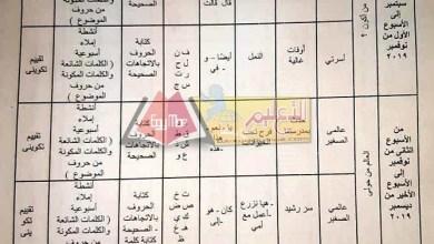 Photo of توزيع مناهج اللغة العربية لكل الصفوف 2019 / 2020