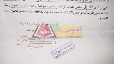 Photo of تعليم الدقهلية : يجوز خفض عدد الحصص الأسبوعية للرياضيات بسبب العجز