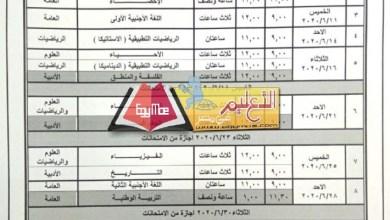 Photo of جدول امتحانات الثانوية العامة 2020 على مكتب الوزير .. لا تغيير في ترتيب مواد الأدبي
