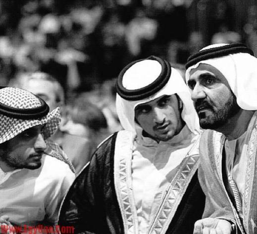 الشيخ محمد بن راشد المكتوم والمرحوم الشيخ راشد