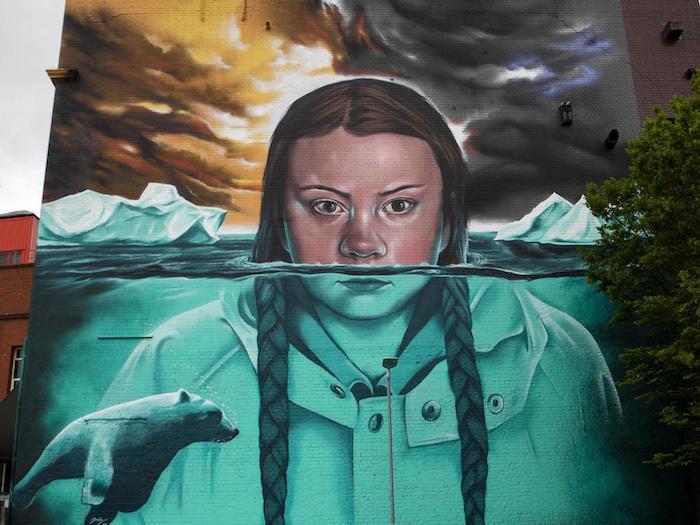 A Bristol Greta diventa un murale: l'arte non smette di ...