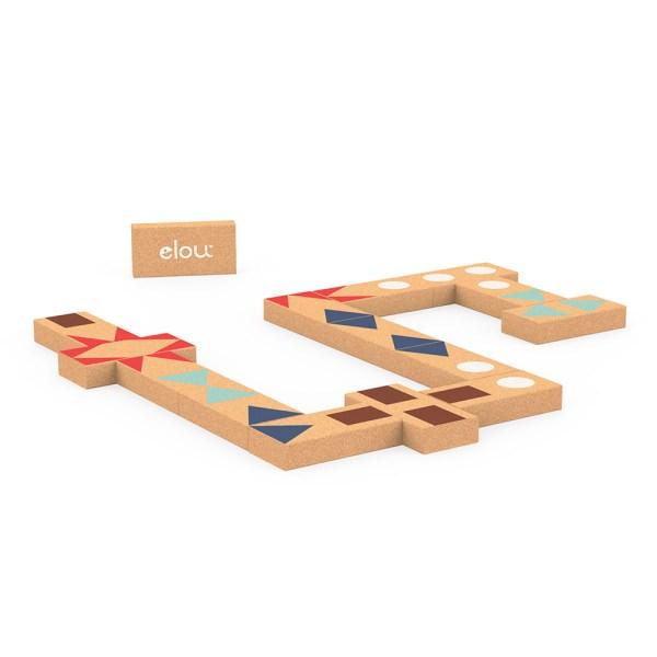 domino shapes em cortiça, da Elou