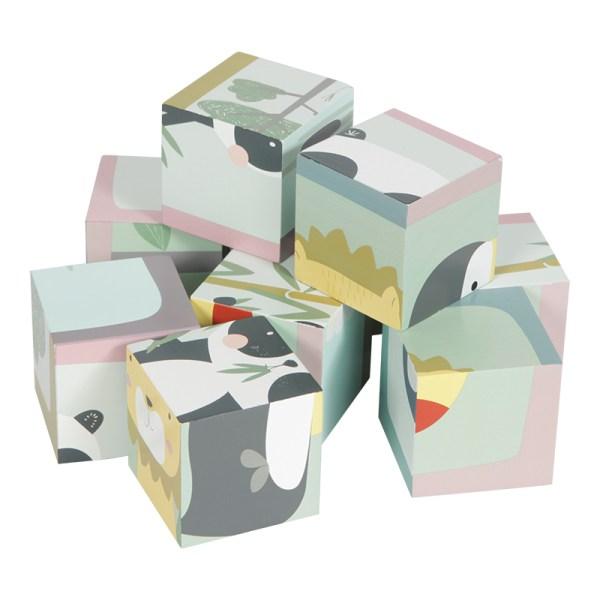puzzle de cubos - zoo