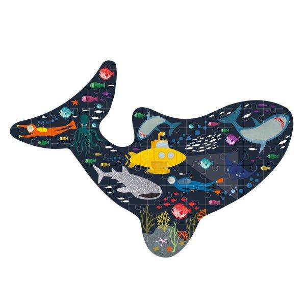 puzzle fundo do mar o tubarão da Floss and Rock