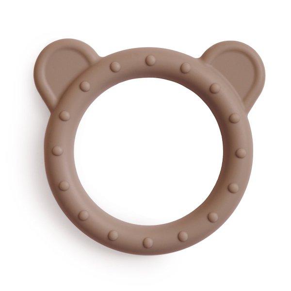 mushie mordedor urso natural em silicone