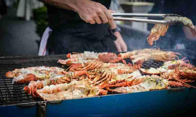 grigliata di pesce e crostacei
