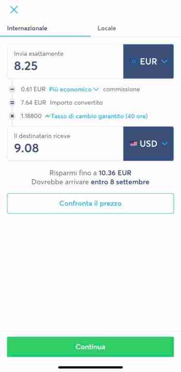 inviare denaro all'estero spendendo poco