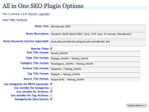 WordPress All-In-One SEO Plugin