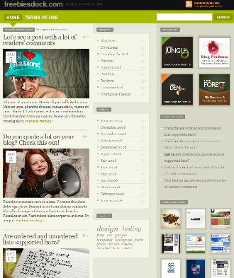Freemium WordPress theme Preview
