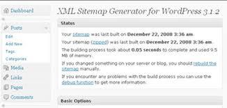 Google XML sitemap generator for WordPress