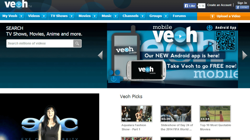 Veoh - Free Movie Streaming No Registration