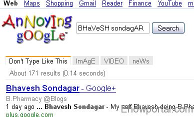 Annoying Google