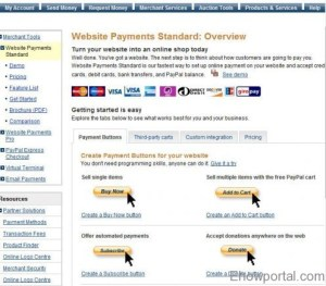 Previous paypal website payment standard button page