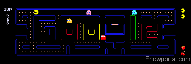 Play PacMan Game with Google Doodle