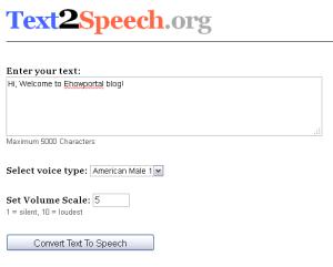 Online Text to Speech comverter