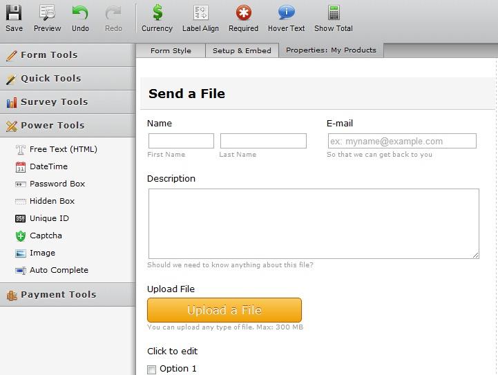 JotForm Easiest Form Builder for Dropbox
