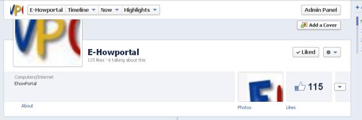 facebook fan page