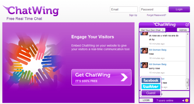 Chatwing.com – Free Chat Widget to Engage Visitors