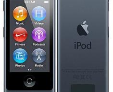 Apple iPod Nano 7th Generation, 16GB, Slate - Slate, 16GB