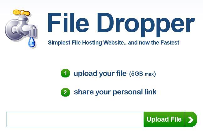 FileDropper - Upload & Share Large Files For Free