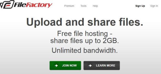 Free file hosting. File sharing. File upload. FileFactory.com
