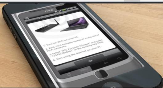 HTC screenshot on iphone