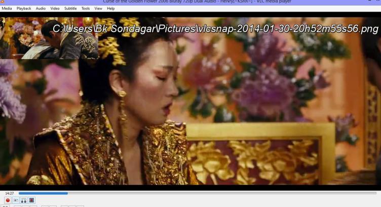 VLC Advance Control to take Screenshot