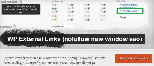 WP External Links (nofollow new window seo)